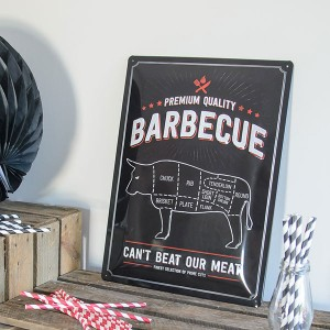 Placa decorativa Barbecue, ideal para fiestas.