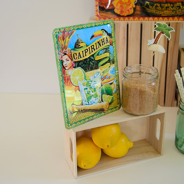 "Placa decorativa ""Caipirinha"", ideal para decorar fiestas."