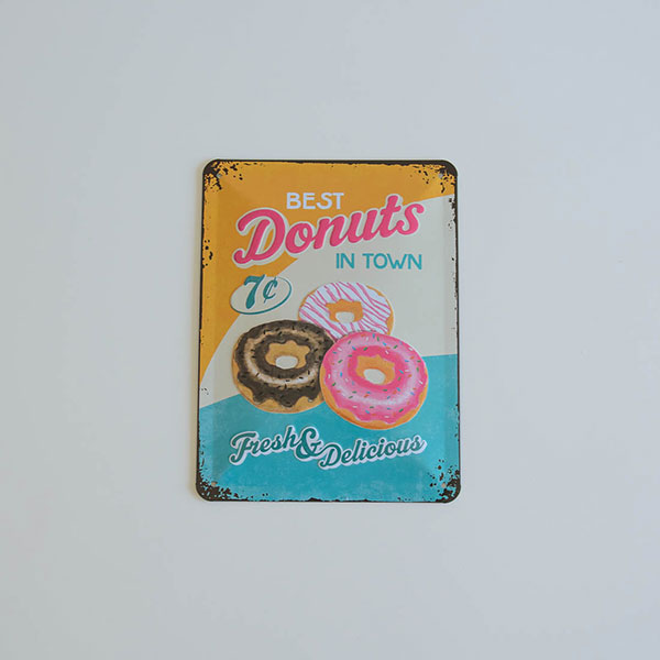 "Placa decorativa ""Donuts"", ideal para decorar fiestas."