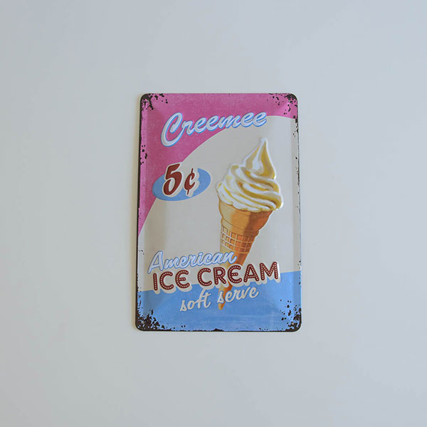 "Placa Decorativa ""Ice Cream"""