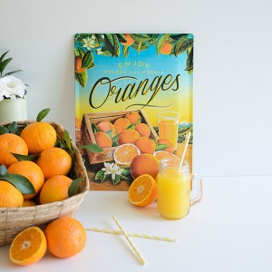 "Placa decorativa ""Oranges"", ideal para decorar fiestas."