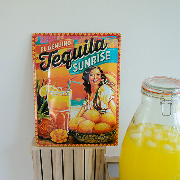 "Placa decorativa ""Tequila"", ideal para decorar fiestas."