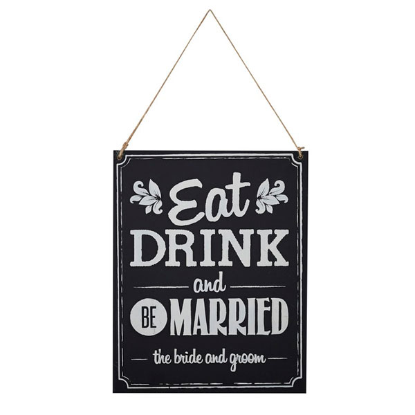 Cartel Be married Bodas